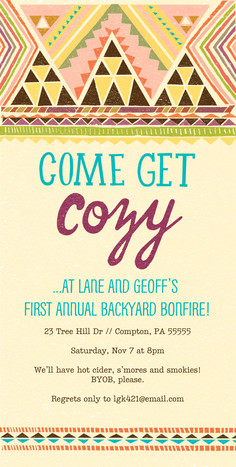 Southwest Design Party Invite 4x8 Flat Card