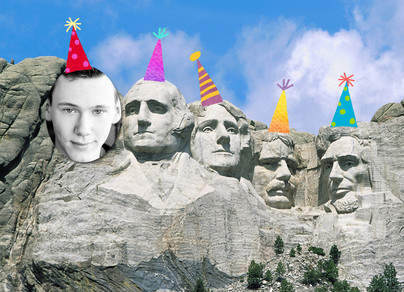 Mount Rushmore Birthday Photo 7x5 Folded Card