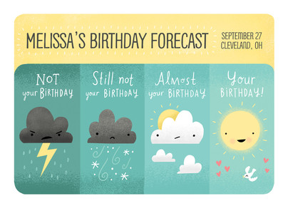 Your Personal Birthday Forecast 7x5 Folded Card