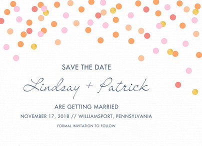 Whimsical Dots Save-the-date 7x5 Flat Card