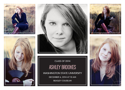 Multi-frame Grad Announcement 7x5 Flat Card