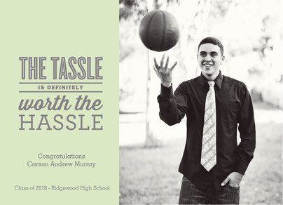 The Tassel Photo Grad Announcement 7x5 Flat Card