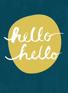 Hello Hello 3.75x5.25 Folded Card
