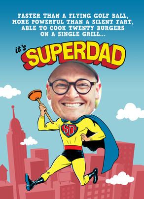 Superdad Photo Head 5x7 Folded Card