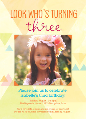 Birthday Triangle Design 5x7 Flat Card
