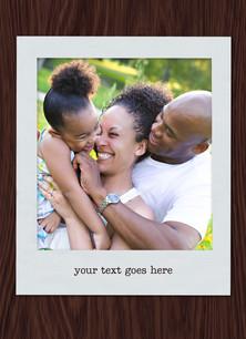 Custom Greeting Card - Photo on Wood 3.75x5.25 Folded Card