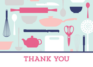 Stock the Kitchen Thank You 5.25x3.75 Folded Card
