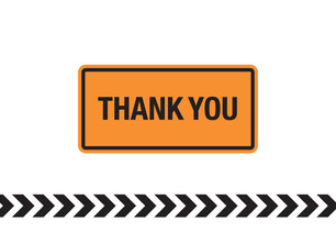 Construction Sign Thank You 5.25x3.75 Folded Card
