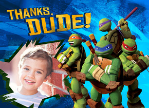 TMNT - Thanks, Dude! 5.25x3.75 Folded Card
