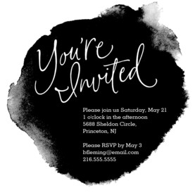 Formal Black Ink Invitation 4.75x4.75 Flat