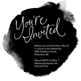 Formal Black Ink Invitation 4.75x4.75 Flat