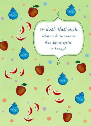 Rosh Hashanah Apples and Honey 5x7 Folded Card