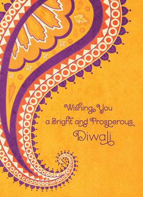 Paisley Diwali 5x7 Folded Card