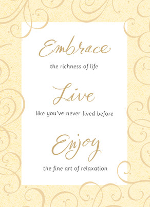 Gold Lettering Retirement 5x7 Folded Card