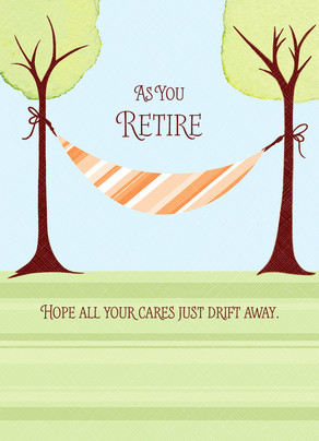 Retirement Hammock 5x7 Folded Card