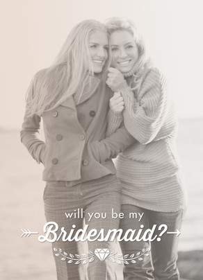 Bridesmaid Photo with Overlay and Filter 5x7 Folded Card