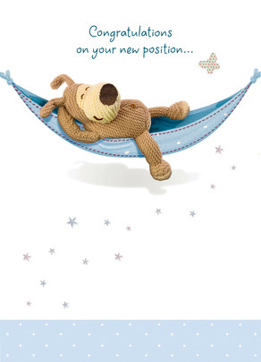 Boofle in Hammock 5x7 Folded Card