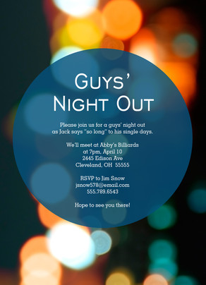 Blue Circle Guys Invite 5x7 Flat Card