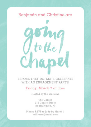 Script Lettering - Going to the Chapel 5x7 Flat Card