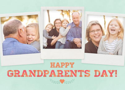 Grandparents Day Instant Photos 7x5 Folded Card