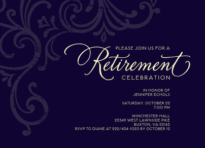 Perfect Formal Retirement Invitation 7x5 Flat Card