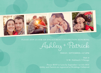 Engagement Party Photo Strip 7x5 Flat Card