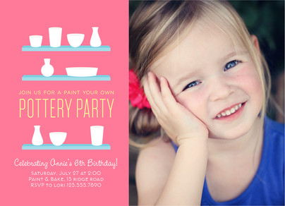 Pottery Painting Party Invitation Happy Birthday Invitation – Painting Birthday Invitations