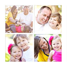 4 Photo Grid - White 4.75x4.75 Folded Card