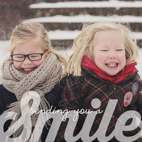 Smile Lettering Overlay 4.75x4.75 Folded Card