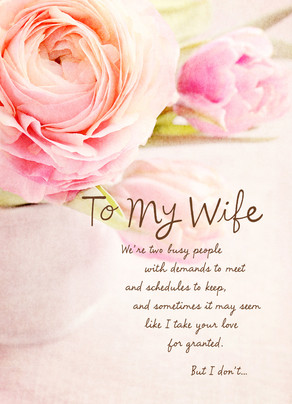 Photo Floral Wife Sweetest Day 5x7 Folded Card