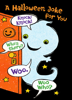 Ghostly Knock-knock Joke 5x7 Folded Card