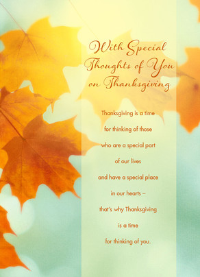Thinking of You on Thanksgiving 5x7 Folded Card