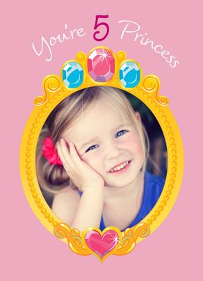 Pretty Princess Photo Mirror 5x7 Folded Card