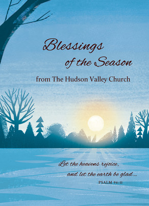 Blessings of the Season - Winter Scene 5x7 Folded Card