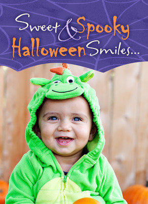 Halloween Smiles Photo 5x7 Folded Card