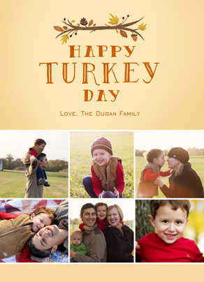 Turkey Day - 6 Photos 5x7 Flat Card