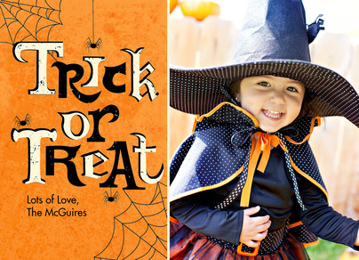 Trick or Treat Photo Card 7x5 Flat Card