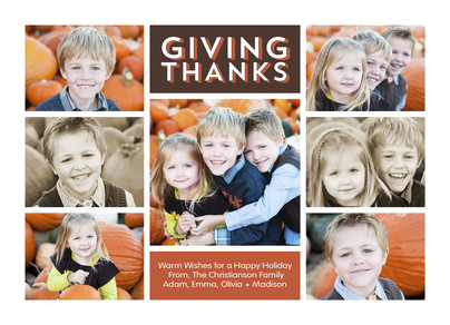 Giving Thanks - 7 Photos 7x5 Flat Card
