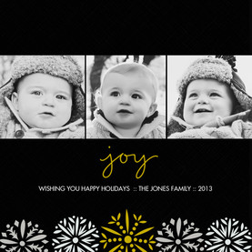 3 Photos - Joy on Black 4.75x4.75 Flat