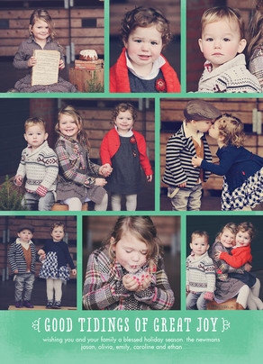 Tidings of Great Joy on Mint 5x7 Flat Card