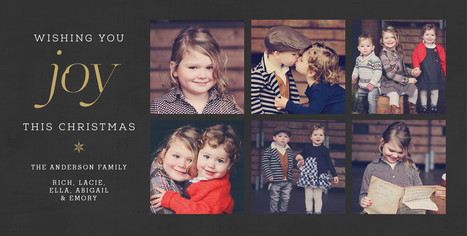 6 Photos - Gray, Gold and White Design 8x4 Flat Card
