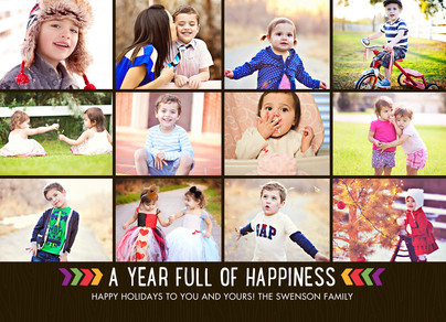 12 Photo Year In Review Christmas Card Cardstore