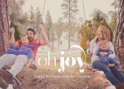Oh Joy - White Overlay 7x5 Flat Card