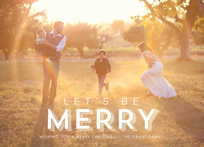 Let's Be Merry - Lettering Overlay 7x5 Flat Card