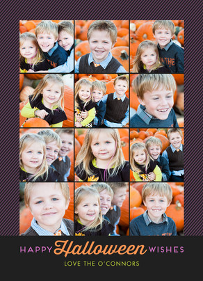 12 Photos Halloween Wishes 5x7 Flat Card