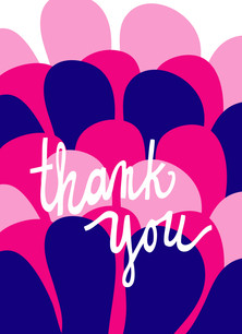 Mod Thank You 3.75x5.25 Folded Card