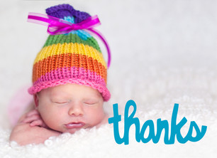 Thanks Photo Overlay 5.25x3.75 Folded Card