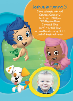 Gil Molly and Bubble Puppy Invitation 5x7 Flat Card