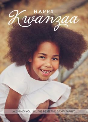 Happy Kwanzaa Photo Overlay 5x7 Flat Card