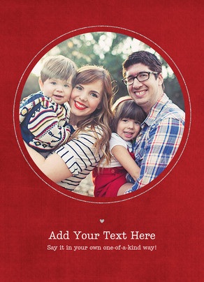 Your Message under Red Circle Photo Frame 5x7 Flat Card